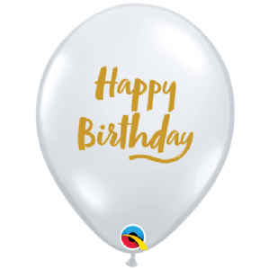 Birthday Brush Script Latex Balloons | Free Delivery Available